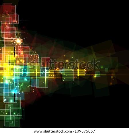 Abstract dark star background editable vector illustration - stock vector
