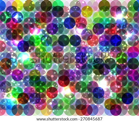abstract dark vertical background with colors circles elements - stock vector