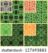 abstract decorative seamless patterns set - stock vector