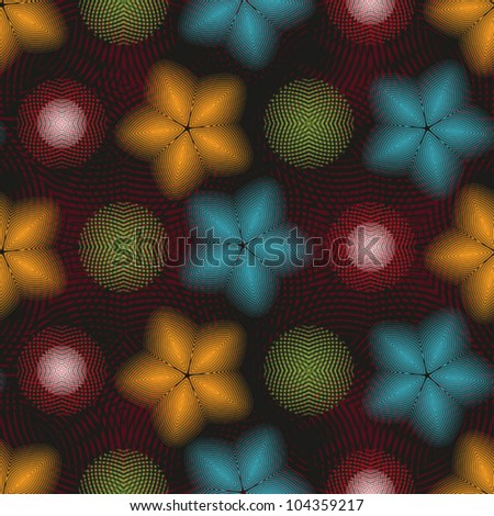 Abstract decorative textured disco background. Seamless pattern. Vector. - stock vector