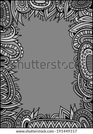Abstract decorative vector ethnic border for your text - stock vector