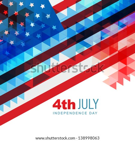 abstract design american independence day art - stock vector