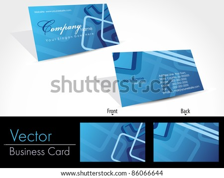 abstract design business cards, vector - stock vector