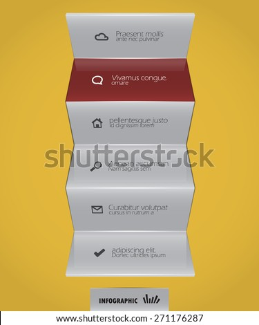 abstract design element - horizontal lines - stock vector