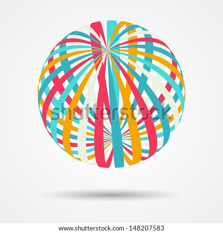 Abstract design element (sphere, creative sign, global processes, network) - stock vector