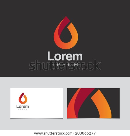 Abstract design element with business card template 04 - stock vector