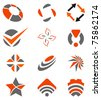abstract design elements set - stock vector
