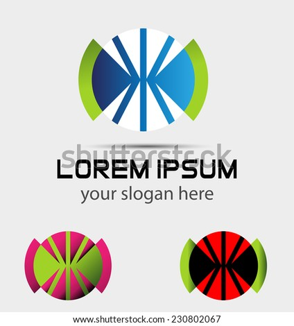 Abstract design logo elements - stock vector