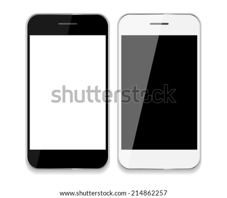 Abstract Design Mobile Phones . Vector Illustration EPS10 - stock vector