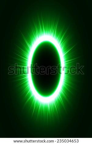 abstract design of green magic portal gate (outer  lines.vector version) - stock vector
