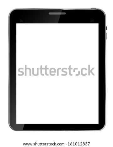 Abstract design  realistic tablet with blank screen isolated on white background..Vector  illustration - stock vector