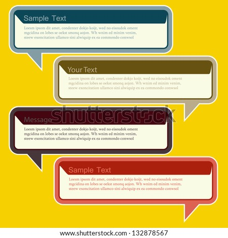 Abstract design Speech bubble-vector illustration - stock vector