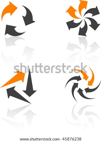 Abstract design symbols. Vector illustration. - stock vector