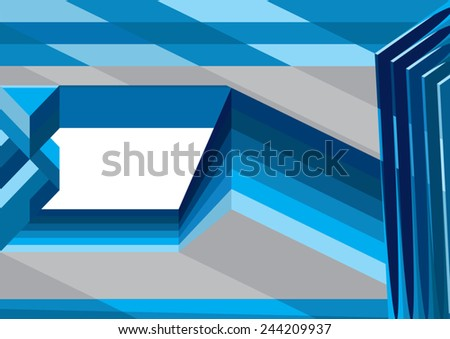 abstract design with blue stripes elements - stock vector