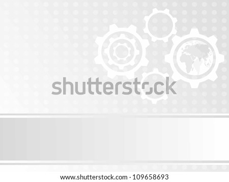 abstract design with globe in cog wheel - stock vector