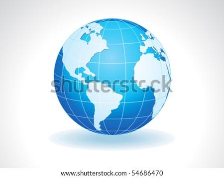 abstract detailed shiny globe vector illustration - stock vector