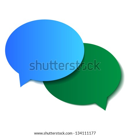 abstract dialog clouds - stock vector