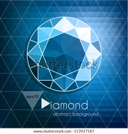Abstract diamond background - eps10 - stock vector