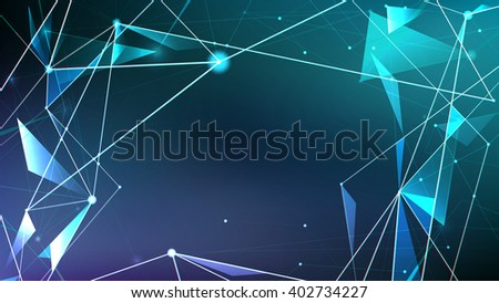Abstract digital background, Futuristic style of the future technology - stock vector