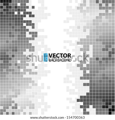 Abstract digital background with greyscale pixels equalizer. RGB EPS 10 vector illustration - stock vector
