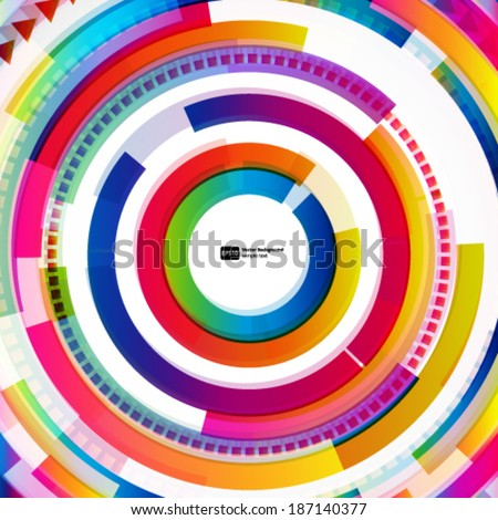 Abstract digital circles vector background - stock vector