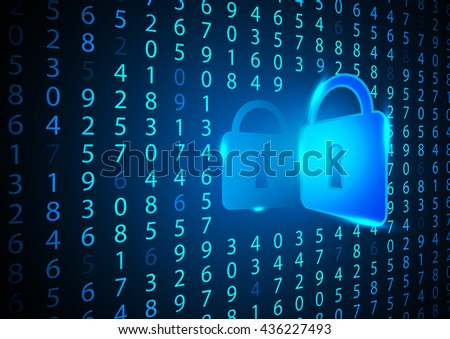 Abstract digital number security background concept design - stock vector