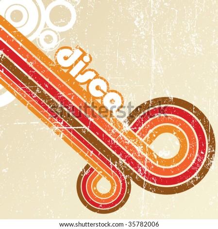 Abstract disco background - vector. - stock vector