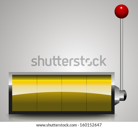 Abstract Display with lever - casino, fruit machine - stock vector