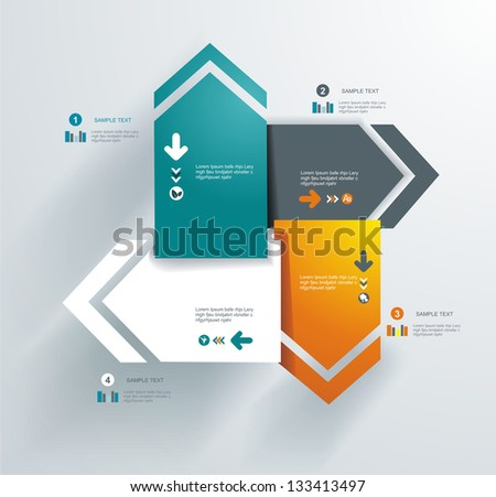 Abstract distortion from arrow shape background - seamless. Can be used for graphic or website layout vector. - stock vector