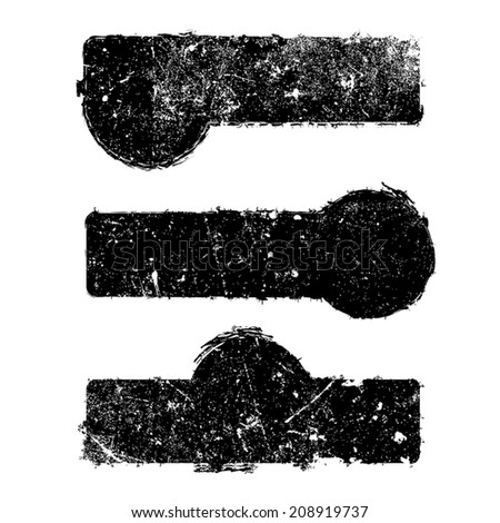 Abstract Distress Borders texture for your design. EPS10 vector. - stock vector