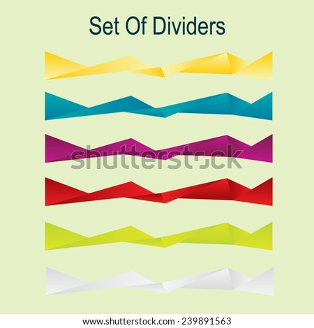 Abstract dividers - stock vector