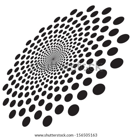 abstract dot on white background - stock vector