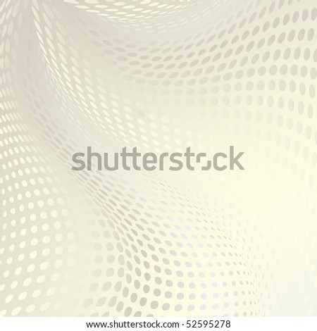 abstract doted wavy background with half tone effect - stock vector