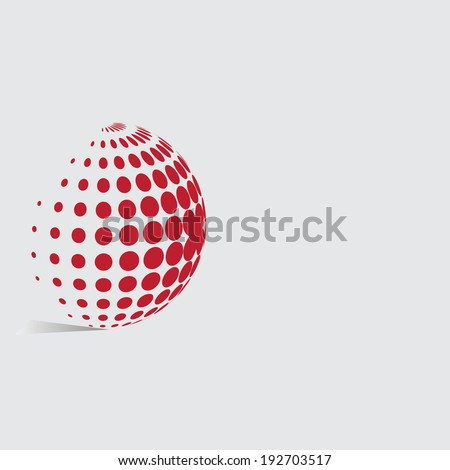 Abstract dots background for your text and logo - vector illustration   - stock vector