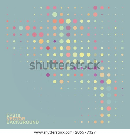 Abstract Dotted Background - stock vector
