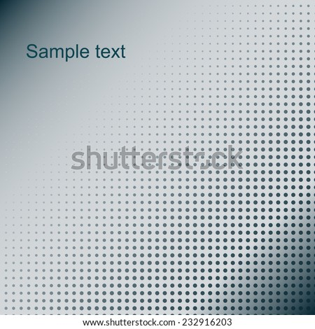 Abstract dotted background. Blue colors - stock vector