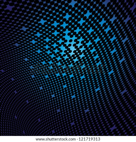 Abstract dotted background - illustration - stock vector