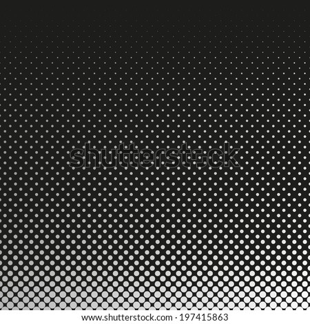 Abstract dotted black and white background - stock vector