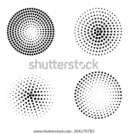 Abstract dotted circles - stock vector