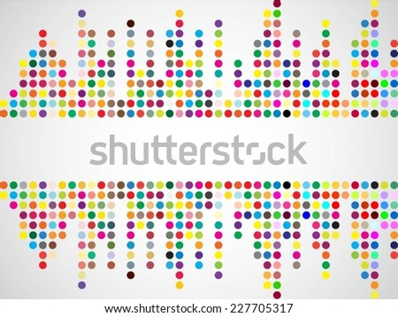 Abstract dotted colorful background texture with copy space - stock vector