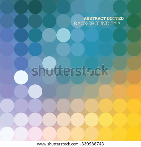 Abstract dotted colorfully background, vector editable eps 8 - stock vector