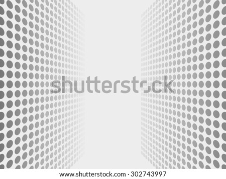 Abstract dotted halftone effect vector background - stock vector