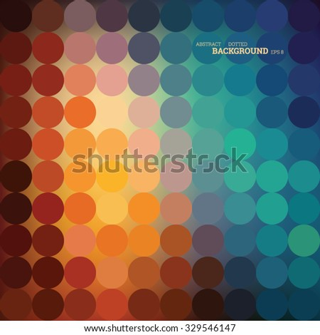 Abstract dotted harmony pink color background, editable vector, eps8 - stock vector