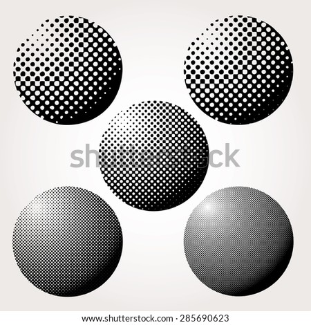 Abstract dotted spheres vector illustration. - stock vector