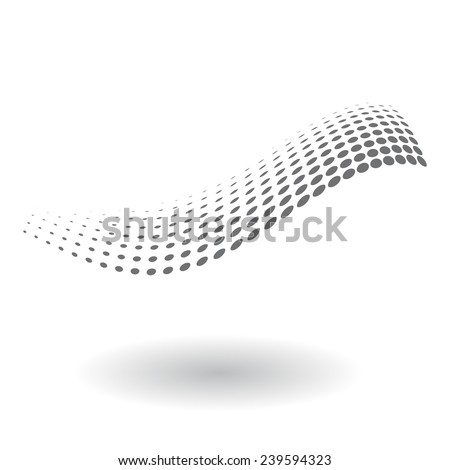 Abstract dotted wave - stock vector
