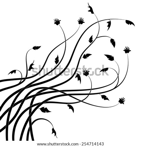 Abstract drawn twigs. Vector illustration - stock vector