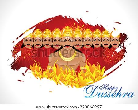 abstract dussehra wallpaper vector illustration - stock vector