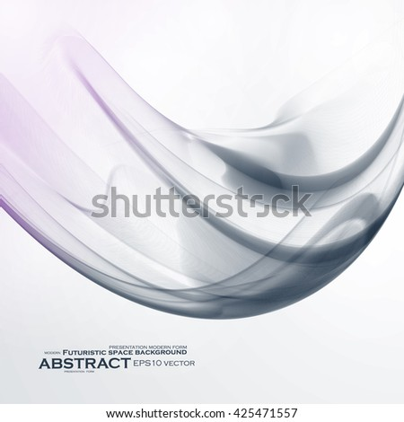 Abstract dynamic background, futuristic wavy vector illustration eps10 - stock vector