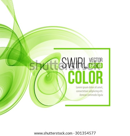 Abstract dynamic background, swirl wavy. Vector illustration  EPS 10 - stock vector