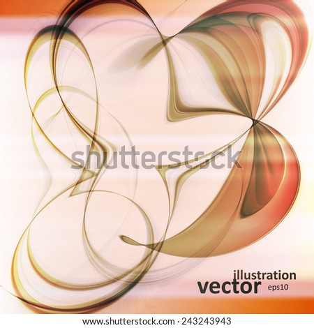 Abstract dynamic illustration, colorful art background, vector eps10 - stock vector